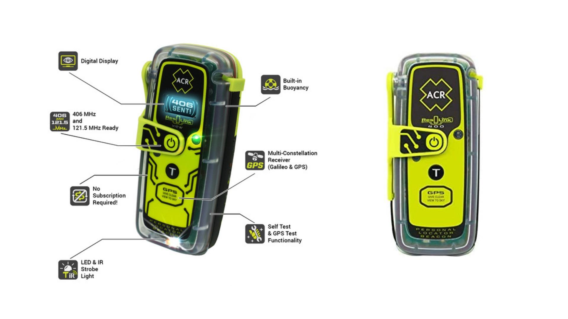 ACR ResQLink 400 - Buoyant GPS Personal Locator