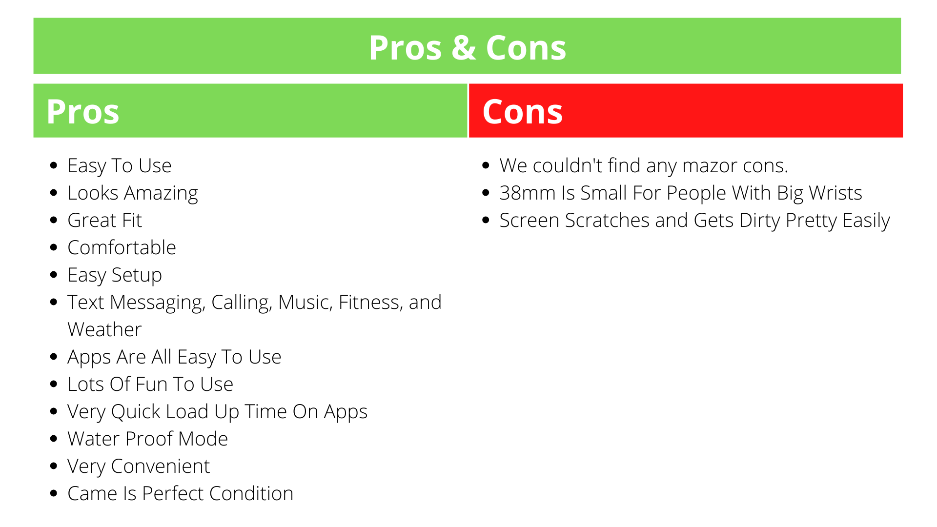 Apple Watch Series 3 Pros & Cons