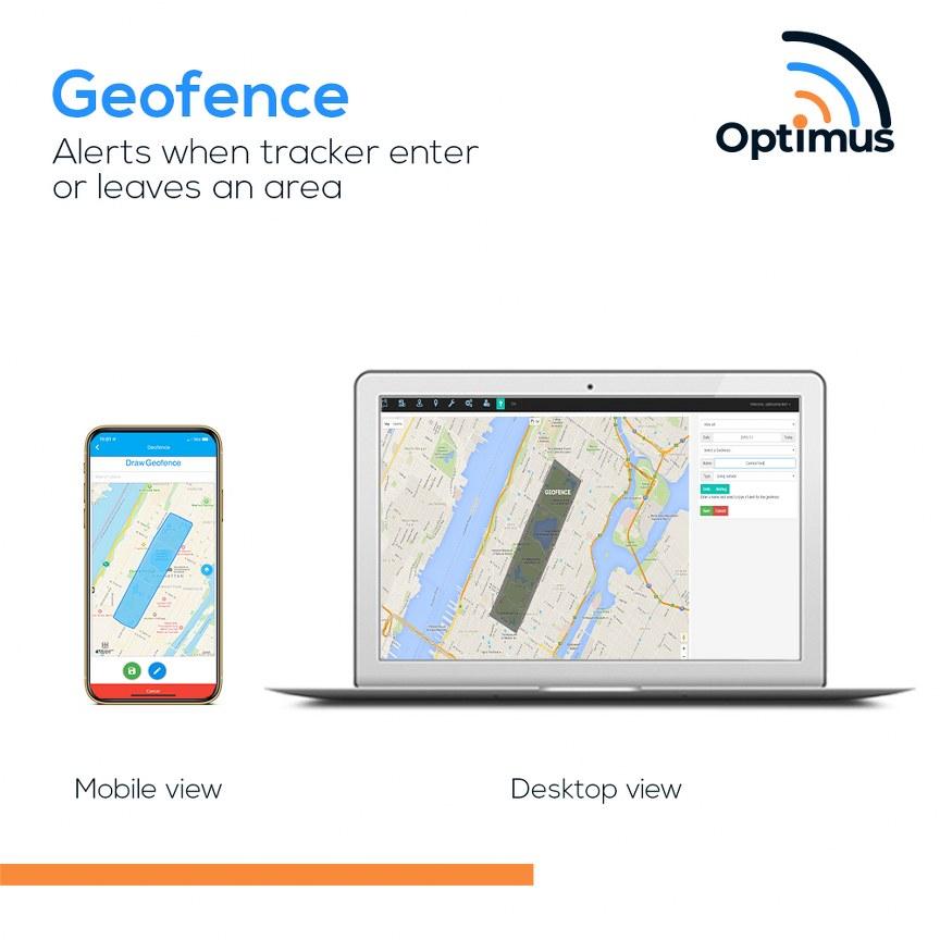 Optimus 2.0 Tracker geofence